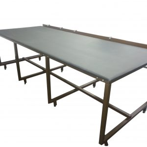 Screen printing fabric table